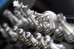 Argento di scacchi Immagine Stock