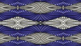 Argento e fondo astratto blu per la progettazione dei tessuti, Immagine Stock