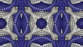 Argento e fondo astratto blu per la progettazione dei tessuti, Fotografie Stock Libere da Diritti
