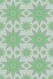 Argento e stelle serene di verde Fotografie Stock