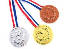 Argento ed oro Bronze Fotografia Stock