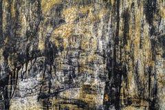 Argento Grungy e fondo arancio illustrazione di stock