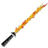 Argento medievale della spada di fantasia con la maniglia piacevole e la lama tagliente Immagine Stock