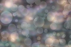Argento vago Teal Background di Bokeh immagini stock