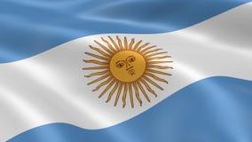 Argentyńska flaga w wiatrze Zdjęcie Stock
