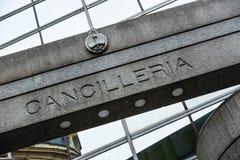 Argentyński ministerstwa spraw zagranicznych i cześć budynek Zdjęcia Royalty Free