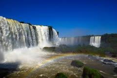 Argentyńska strona Iguassu spadki Zdjęcia Royalty Free