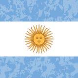 Argentyna dzień niepodległości 9 Lipiec, flaga Argentyna Grunge tło Słońce Maj royalty ilustracja