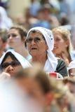 Argentyna fan na Miami plaży Zdjęcia Royalty Free