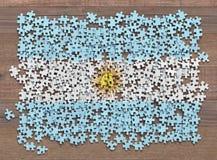 Argentyna flaga łamigłówka ilustracji