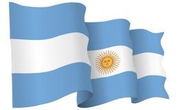 Argentyna flaga falowania wektoru ilustracja ilustracja wektor