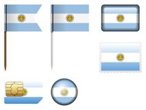 Argentyna flaga set ilustracja wektor