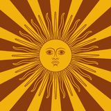 Argentyna grępluje - plakatową wektorową ilustrację z słońca i flagi kolorami royalty ilustracja