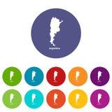 Argentyna mapy ikona, prosty styl ilustracja wektor