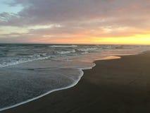 Argentyna morza zmierzch Fotografia Stock
