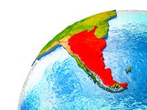 Argentyna na 3D ziemi ilustracji