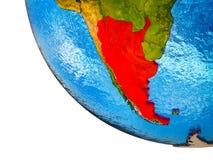 Argentyna na 3D ziemi royalty ilustracja