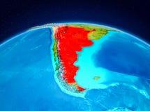 Argentyna od orbity ilustracji