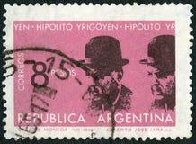 ARGENTYNA - 1965: przedstawienia Hipolito Yrigoyen 1852-1933, prezydent Argentyna 1916-22, 1928-30 Zdjęcia Stock