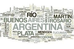 Argentyna słowa chmura ilustracja wektor
