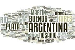 Argentyna słowa chmura royalty ilustracja