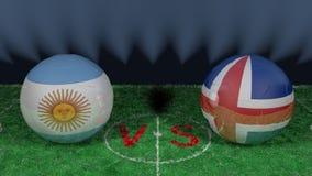 Argentyna versus Iceland 2018 FIFA puchar świata Oryginalny 3D wizerunek Zdjęcia Royalty Free