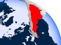 Argentyna w czerwieni na mapie royalty ilustracja