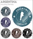 Argentyna znaczków kolekcja ilustracja wektor
