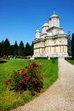 arges修道院罗马尼亚 免版税库存照片