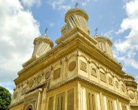 arges美丽的修道院罗马尼亚 图库摄影
