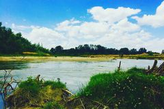 Arges river Stock Photo