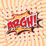 ARGH! κωμική λέξη Στοκ φωτογραφία με δικαίωμα ελεύθερης χρήσης