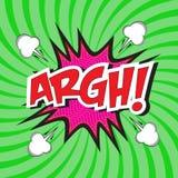 ARGH! κωμική λέξη Στοκ εικόνα με δικαίωμα ελεύθερης χρήσης