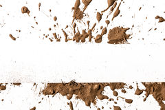 Argila da textura que move-se no fundo branco. Fotografia de Stock