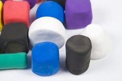 Argila de modelagem colorida Fotografia de Stock