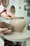 Argila de modelagem Potenciômetro Handmade Produtos vidreiros pintados imagem de stock