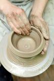 Argila de modelagem Potenciômetro Handmade Produtos vidreiros pintados fotos de stock