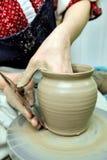 Argila de modelagem Potenciômetro Handmade Produtos vidreiros pintados imagens de stock