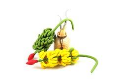 Argila do molde da banana Fotos de Stock Royalty Free