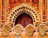A argila fez a fotografia do fundo da concepção arquitetónica Fotografia de Stock