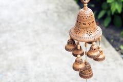 A argila fez o estoque do objeto do exemplo das campainhas do dong do ding imagens de stock royalty free