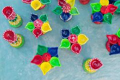 A argila fez trabalhos de arte, artesanatos indianos justos em Kolkata Imagem de Stock Royalty Free