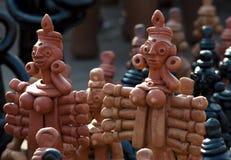 A argila handcrafts de Bengal, Índia Imagens de Stock