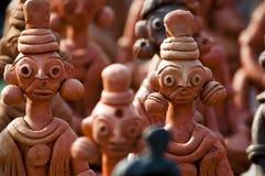 A argila handcrafts de Bengal, Índia Foto de Stock Royalty Free