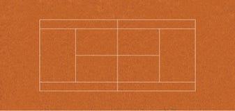 ARGILA regulamentar do campo de tênis Ilustração Stock