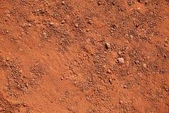 Argila vermelha seca Imagens de Stock
