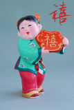 Argile chanceux chinois figurine_lucky (char) Photo stock