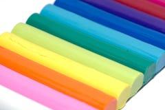 Argile coloré de pâte à modeler d'isolement Image libre de droits