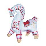 Argile de jouet Jouets de Dymkovo Sur un fond blanc Illustration d'aquarelle illustration libre de droits