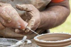 Argile de poterie en céramique Image libre de droits